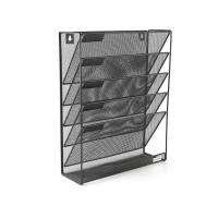 Wholesale Mesh Wall Mounted Hanging File Holder Organizer Literature Rack 5 Tier Black from china suppliers