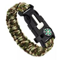 Wholesale Gifts, Sports & Toys hm-01 Wholesale new designs bottle opener paracord bracelet with compass from china suppliers