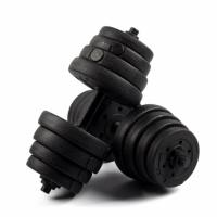 Wholesale Gifts, Sports & Toys Black Rubber Coated Dumbbell from china suppliers