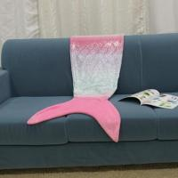 Wholesale Foiled Printed Mermaid Blanket from china suppliers
