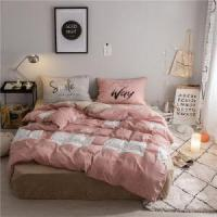 Sets Coral Velvet Bedding with Pillow and Quilt Cover Textil