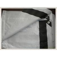 white color with 6 black bands reinforced pe tarpaulin