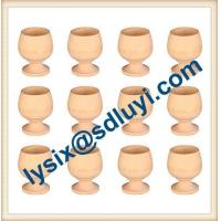 China Unpainted DIY Wooden Easter Egg Holders on sale
