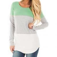 Wholesale The FURLISE - Casual Striped Loose T-Shirt - Various Colours from china suppliers