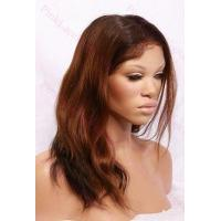Wholesale Alexa T-#2/#30 Natural Straight Full Lace wig in 14 inches from china suppliers