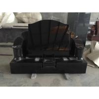 Buy cheap Black Monument Low Price, Cemetery Hand Carved Tombstones from wholesalers