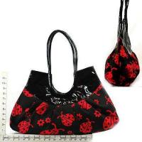 Wholesale Ladybug Black/Red Canvas Purse from china suppliers