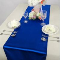 Wholesale Royal blue satin table runner for for Wedding Party Banquet Table Top Decoration from china suppliers