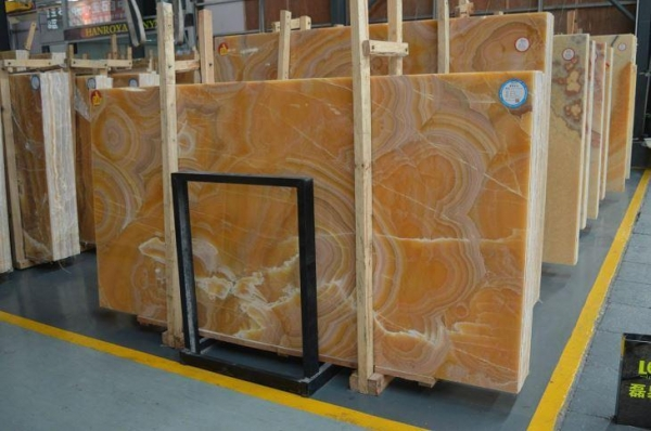 Quality Yellow Onyx Vanity Top for sale