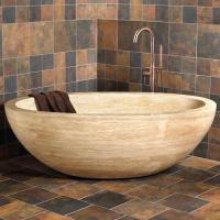 Wholesale Wood Vein Marble Stone Bathtub from china suppliers