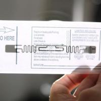 One Time seal Luggage Protection RFID Label