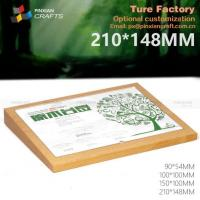 Wholesale Acrylic Cover Wooden Sign Holder from china suppliers