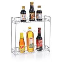 Wholesale 2 tier metal condiment spice stand rack storage organizer from china suppliers