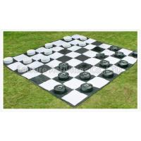 Wholesale Interactive Units Giant Chess & Checkers Set with PVC vinyl mat from china suppliers
