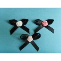 Dress accessories colourful rose satin ribbon bows
