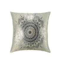 Buy cheap CUSHIONS Metallic Print Faux Suede Cushion- Floral from wholesalers