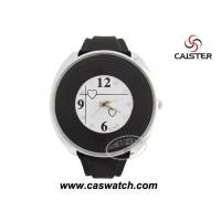 Buy cheap Silicone Watches Round alloy case special face black rubber watch from wholesalers