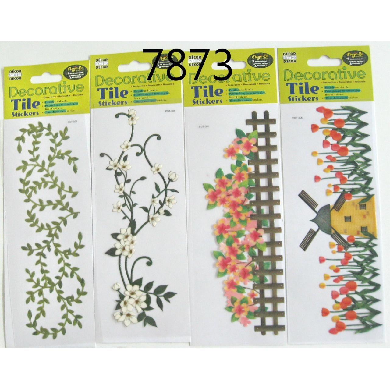Wholesale 16 DESIGNS DECORATIVE TILE STICKER from china suppliers