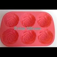 Cake&Baking Mold 6 cup rose silicone cake mould