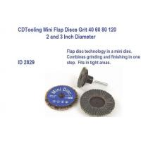 China Mini Flap Discs 2 and 3 Inch Diameter, 40 60 80 120 Grit, ID 2829 on sale