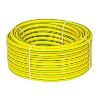 Buy cheap PVC Yellow Garden Hose with Four Small Green Lines from wholesalers