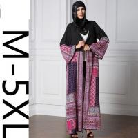 Wholesale Women's Abaya Long Sleeve Color Block Maxi Long Plus from china suppliers