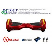 Wholesale 8 Inch Red Two Wheels Smart Electric Balancing Scooter With Bluetooth Speaker from china suppliers