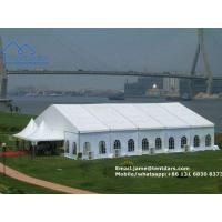 Wholesale European Style Clear Span Structures White PVC Party Tent with Drapes Decoration for Sale from china suppliers
