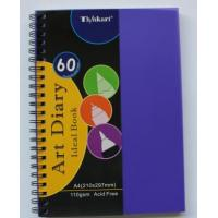 Wholesale 110g A4x60sheet art diary ideal pad from china suppliers