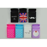 Wholesale Cigarette case cute cartoon printing silicone slim cigarette case for slim cigarette box from china suppliers