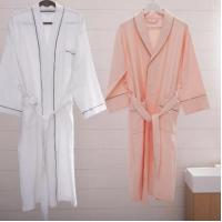 Wholesale Hotel White Bathrobe Cotton Towel Bathrobe from china suppliers