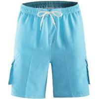 Wholesale Akula Men Swim Trunk Short Elastic Waist Solid Beach Wear with Pockets Light Blue from china suppliers