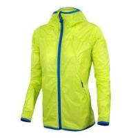 Wholesale Yellow super light men's windbreaker jacket with hood unisex water repellent jacket from china suppliers