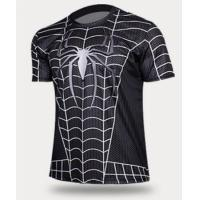 Wholesale Black Spider Print Short Sleeve Quick-dry Sports Men T-shirt TJEL0003 from china suppliers