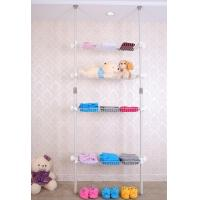Wholesale Convenient flexiable DIY ceiling mounted hanging clothes rack with srorage basket from china suppliers
