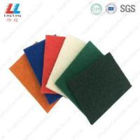 Wholesale thin kitchen accessories colorful scouring pad from china suppliers