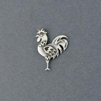 China Sterling Silver Rooster Pin P141 on sale