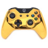 China Gold Xbox One Custom UN-MODDED Controller Exclusive Design on sale