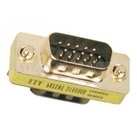 USB panel mount Gold plated VGA mini gender changer Male to Male