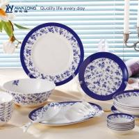 Wholesale 28pcs wholesale blue painting porcelain fine bone china dinnerware set from china suppliers