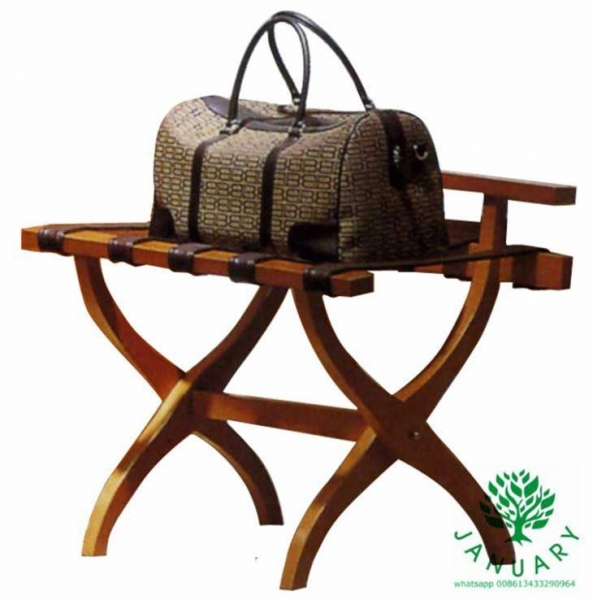Luxury hotel luggage rack stand with wooden vintage folding contour leg of item 53060291 for Folding luggage racks bedroom