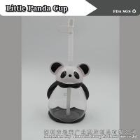 Wholesale Cartoon little panda cup/Straw cup/transparent plastic from china suppliers