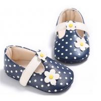 China littler flower PU leather pink girl soft sole infant baby todder shoes booties online wholesale on sale