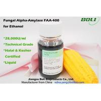 28000 U / ML Fungal Alpha Amylase FAA - 400 , Biological Enzymes For Production Ethanol