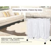Wholesale Kitchenware PVC Plastic Dirty Laundry Basket With Wheel And 3 Mesh Bags from china suppliers