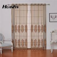 european style embroidery sheer curtain fabric for living