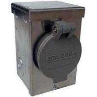 Wholesale Generac 6346 30-Amp 125/250V Aluminum Power Inlet Box with Spring-Loaded Flip Lid from china suppliers