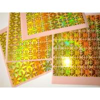 Wholesale PET Gold Hologram Sticker for Anti-fake from china suppliers