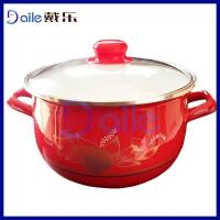 Wholesale 5PCS Same High Quality Enamel Iron With Glass Lid from china suppliers