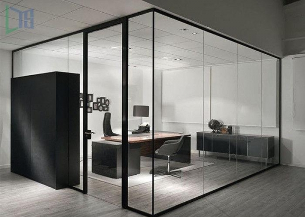 Aluminium Partitions Product : Clear living room glass office partitions aluminium